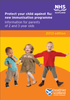 Flu leaflet: two to three year olds