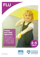 Preschool childflu leaflet