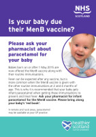 Is your baby due their Men B vaccine