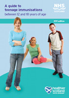 Cover of 'A guide to teenage immunisations between 12 and 18 years of age (revised 2012)'