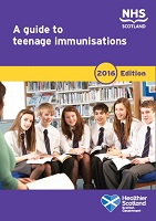 Cover of 'A guide to teenage immunisations'