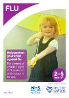 Cover of 'Childhood flu immunisation children aged 2-5 and not yet in primary school leaflets (Scotland)'