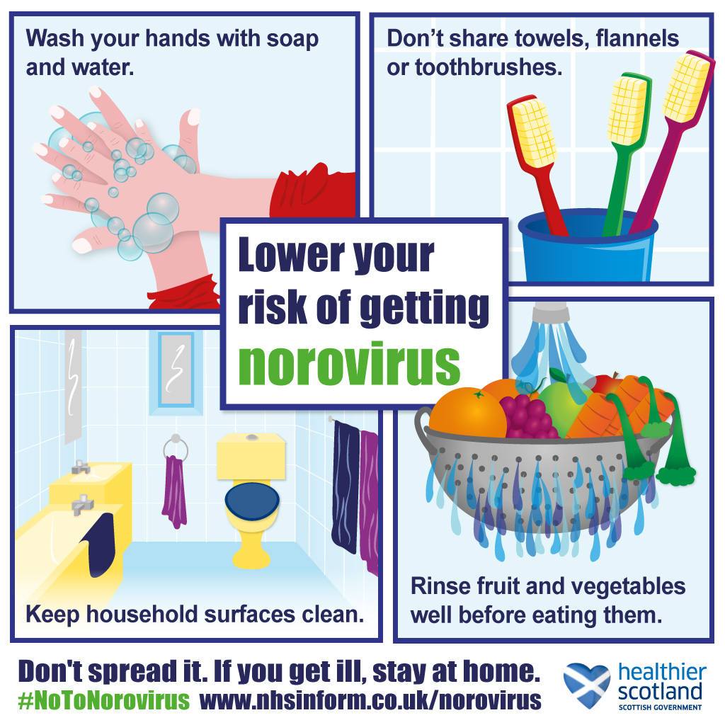 Lower your risk of getting norovirus