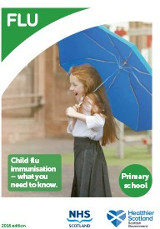 Cover of 'Childhood flu immunisation primary school leaflets (Scotland)'