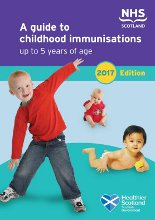 Cover of 'A guide to childhood immunisations up to 5 years of age'