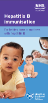 Cover of 'Hepatitis B immunisation. For babies born to mothers with hepatitis B'