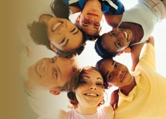 Group of smiling young people